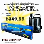 Pondmaster -Waterfall  Pump & UV COMBO  (40WATT UV  WITH WFP3000)